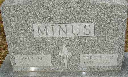 MINUS, CAROLYN D - Franklin County, Ohio | CAROLYN D MINUS - Ohio Gravestone Photos