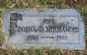 MITCHAMORE, DONNA D. - Franklin County, Ohio | DONNA D. MITCHAMORE - Ohio Gravestone Photos