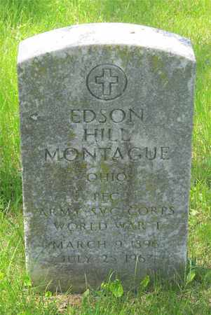 MONTAGUE, EDSON HILL - Franklin County, Ohio | EDSON HILL MONTAGUE - Ohio Gravestone Photos