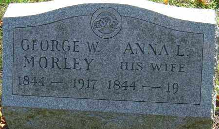 MORLEY, GEORGE W - Franklin County, Ohio | GEORGE W MORLEY - Ohio Gravestone Photos