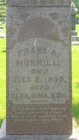 MORRILL, FRANK A. - Franklin County, Ohio | FRANK A. MORRILL - Ohio Gravestone Photos