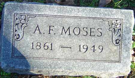 MOSES, ANDREW F - Franklin County, Ohio | ANDREW F MOSES - Ohio Gravestone Photos