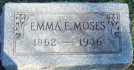 MOSES, EMMA E - Franklin County, Ohio | EMMA E MOSES - Ohio Gravestone Photos