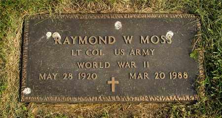 MOSS, RAYMOND W. - Franklin County, Ohio | RAYMOND W. MOSS - Ohio Gravestone Photos