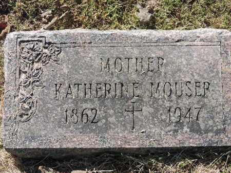 MOUSER, KATHERINE - Franklin County, Ohio | KATHERINE MOUSER - Ohio Gravestone Photos