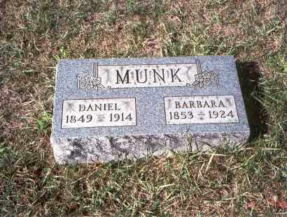 MUNK, DANIEL - Franklin County, Ohio | DANIEL MUNK - Ohio Gravestone Photos