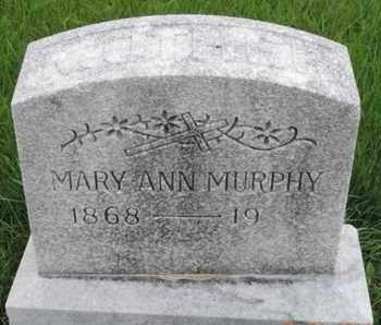 MURPHY, MARY ANN - Franklin County, Ohio | MARY ANN MURPHY - Ohio Gravestone Photos