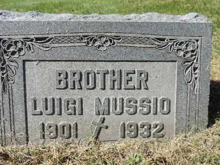 MUSSIO, LUIGI - Franklin County, Ohio | LUIGI MUSSIO - Ohio Gravestone Photos