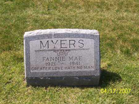 PARTLOW MYERS, FANNIE MAE - Franklin County, Ohio | FANNIE MAE PARTLOW MYERS - Ohio Gravestone Photos