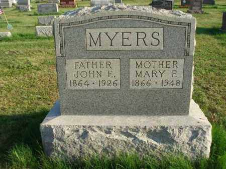 MYERS, JOHN E. - Franklin County, Ohio | JOHN E. MYERS - Ohio Gravestone Photos
