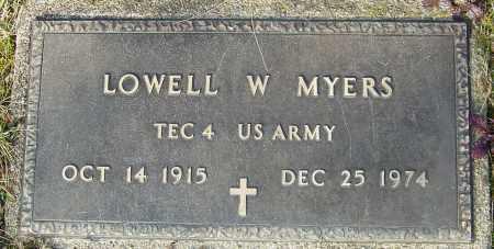 MYERS, LOWELL W - Franklin County, Ohio | LOWELL W MYERS - Ohio Gravestone Photos