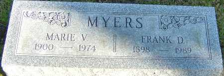 MYERS, MARIE V - Franklin County, Ohio | MARIE V MYERS - Ohio Gravestone Photos