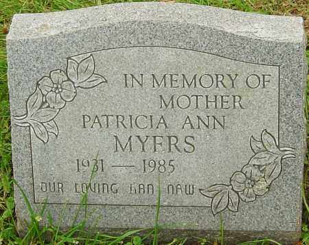MYERS, PATRICIA - Franklin County, Ohio | PATRICIA MYERS - Ohio Gravestone Photos