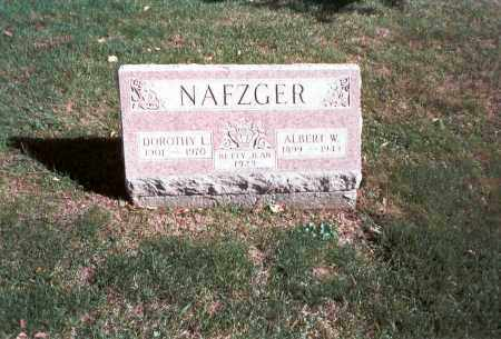 NAFZGER, ALBERT W. - Franklin County, Ohio | ALBERT W. NAFZGER - Ohio Gravestone Photos