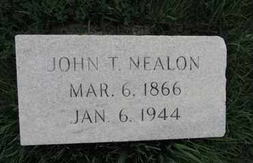 NEALON, JOHN T - Franklin County, Ohio | JOHN T NEALON - Ohio Gravestone Photos