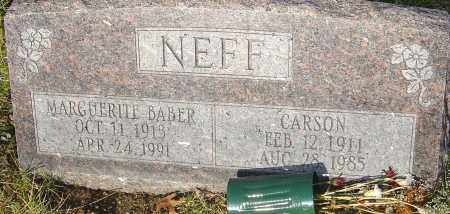 NEFF, CARSON - Franklin County, Ohio | CARSON NEFF - Ohio Gravestone Photos