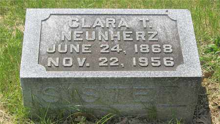 NEUNHERZ, CLARA T. - Franklin County, Ohio | CLARA T. NEUNHERZ - Ohio Gravestone Photos