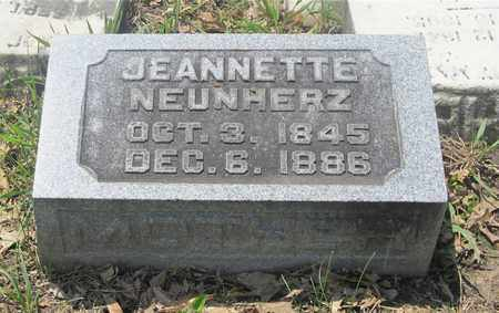 NEUNHERZ, JEANNETTE - Franklin County, Ohio | JEANNETTE NEUNHERZ - Ohio Gravestone Photos