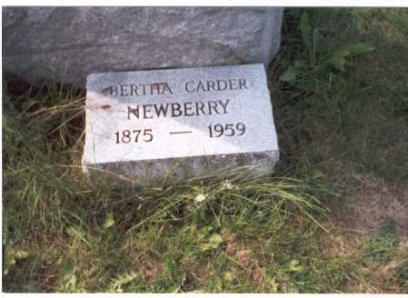 NEWBERRY, BERTHA - Franklin County, Ohio | BERTHA NEWBERRY - Ohio Gravestone Photos