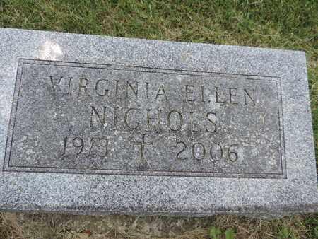 NICHOLS, VIRGINIA ELLEN - Franklin County, Ohio | VIRGINIA ELLEN NICHOLS - Ohio Gravestone Photos