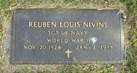 NIVINS, REUBEN LOUIS - Franklin County, Ohio | REUBEN LOUIS NIVINS - Ohio Gravestone Photos