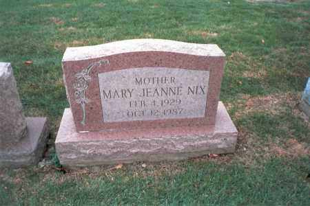 NIX, MARY JEANNE - Franklin County, Ohio | MARY JEANNE NIX - Ohio Gravestone Photos