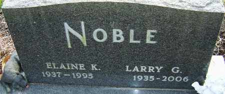 NOBLE, LARRY G - Franklin County, Ohio | LARRY G NOBLE - Ohio Gravestone Photos