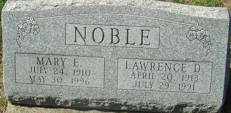 NOBLE, MARY E - Franklin County, Ohio | MARY E NOBLE - Ohio Gravestone Photos