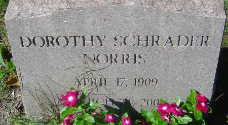 SCHRADER NORRIS, DOROTHY - Franklin County, Ohio | DOROTHY SCHRADER NORRIS - Ohio Gravestone Photos