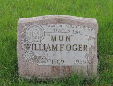 OGER, WILLIAM F. - Franklin County, Ohio | WILLIAM F. OGER - Ohio Gravestone Photos