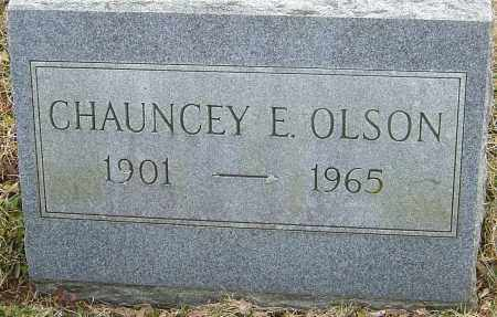 OLSON, CHAUNCEY E - Franklin County, Ohio | CHAUNCEY E OLSON - Ohio Gravestone Photos