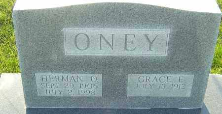 ONEY, GRACE E - Franklin County, Ohio | GRACE E ONEY - Ohio Gravestone Photos