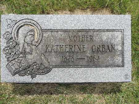 ORBAN, KATHERINE - Franklin County, Ohio | KATHERINE ORBAN - Ohio Gravestone Photos