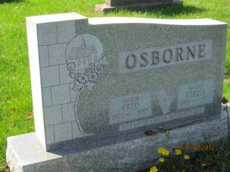 OSBORNE, FRED - Franklin County, Ohio | FRED OSBORNE - Ohio Gravestone Photos