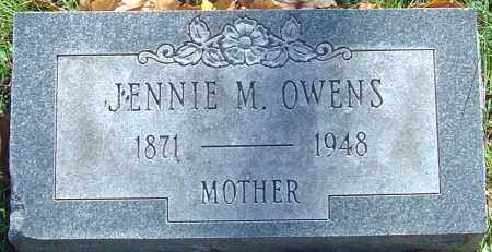OWENS, JENNIE M - Franklin County, Ohio | JENNIE M OWENS - Ohio Gravestone Photos