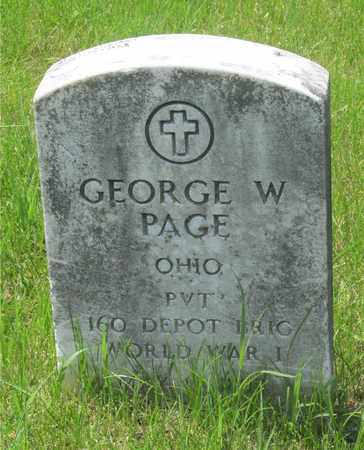 PAGE, GEORGE W. - Franklin County, Ohio | GEORGE W. PAGE - Ohio Gravestone Photos
