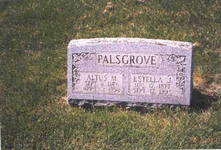 PALSGROVE, ESTELLA J. - Franklin County, Ohio | ESTELLA J. PALSGROVE - Ohio Gravestone Photos