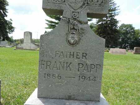 PAPP, FRANK - Franklin County, Ohio | FRANK PAPP - Ohio Gravestone Photos