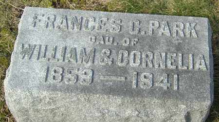 PARK, FRANCES CAMELIA - Franklin County, Ohio | FRANCES CAMELIA PARK - Ohio Gravestone Photos