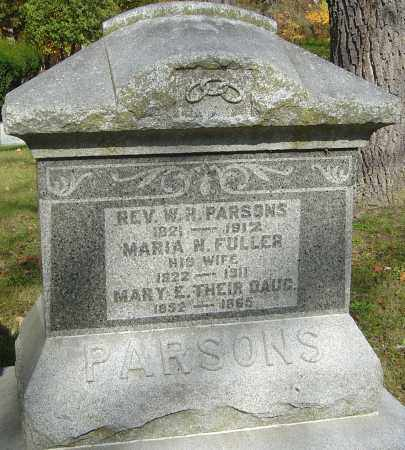 PARSONS, MARY E - Franklin County, Ohio | MARY E PARSONS - Ohio Gravestone Photos
