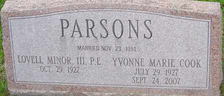COOK PARSONS, YVONNE MARIE - Franklin County, Ohio | YVONNE MARIE COOK PARSONS - Ohio Gravestone Photos