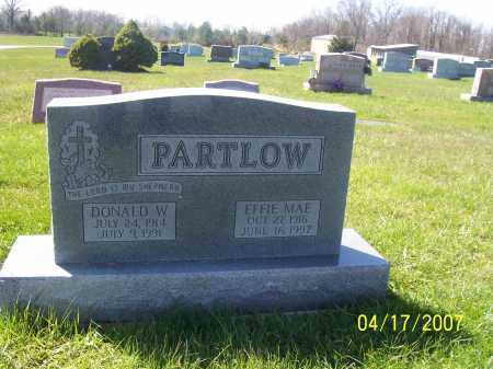 PARTLOW, EFFIE MAE - Franklin County, Ohio | EFFIE MAE PARTLOW - Ohio Gravestone Photos