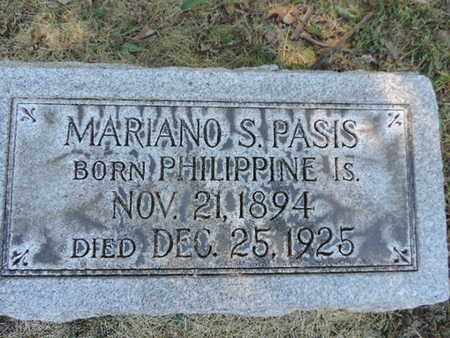PASIS, MARIANO S. - Franklin County, Ohio | MARIANO S. PASIS - Ohio Gravestone Photos
