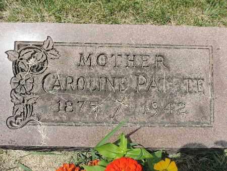 PATETE, CAROLINE - Franklin County, Ohio | CAROLINE PATETE - Ohio Gravestone Photos