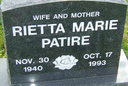 HAMMERICK PATIRE, RIETTA - Franklin County, Ohio | RIETTA HAMMERICK PATIRE - Ohio Gravestone Photos