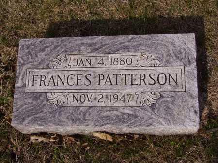PATTERSON, FRANCES - Franklin County, Ohio | FRANCES PATTERSON - Ohio Gravestone Photos