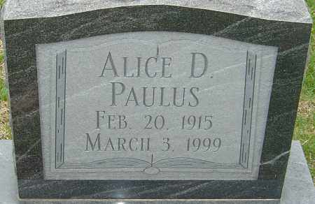 PAULUS, ALICE D - Franklin County, Ohio   ALICE D PAULUS - Ohio Gravestone Photos