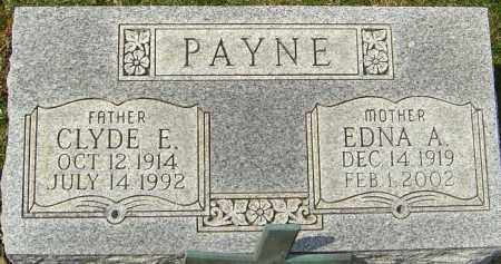PAYNE, EDNA A - Franklin County, Ohio | EDNA A PAYNE - Ohio Gravestone Photos