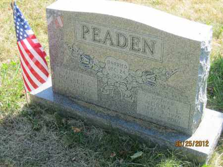 PEADEN, DONALD GRAHAM - Franklin County, Ohio | DONALD GRAHAM PEADEN - Ohio Gravestone Photos