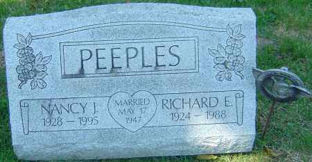 PEEPLES, RICHARD E - Franklin County, Ohio | RICHARD E PEEPLES - Ohio Gravestone Photos